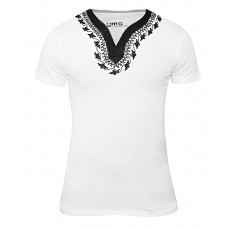 T-shirts Traditionnel Homme Blanc